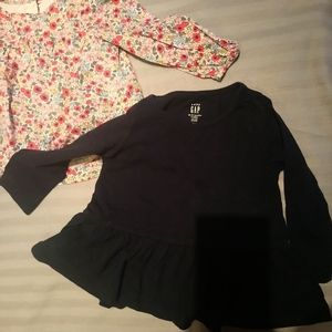 2 pc GAP BABY girl long sleeves dresses /top